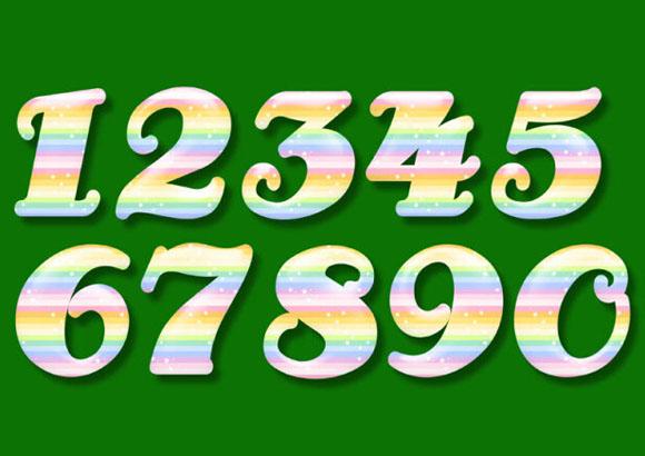 0到9的数字创意图片图片