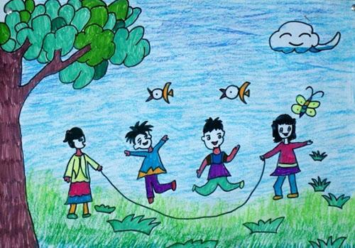儿童创意手工画图片